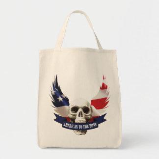 Tote Bag Américain au crâne d'os
