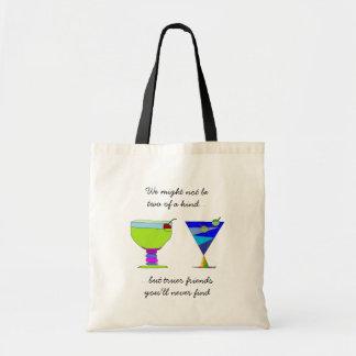 Tote Bag Amis vrais disant des boissons de n