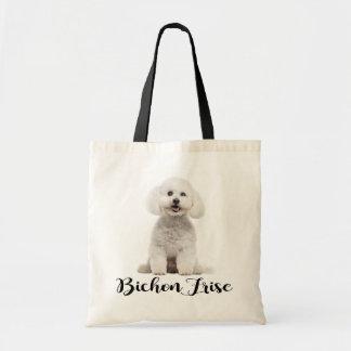 Tote Bag Amour blanc de chiot de Bichon Frise