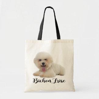 Tote Bag Amour blanc de noir de chiot de Bichon Frise