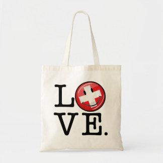 Tote Bag Amour de drapeau de sourire de la Suisse