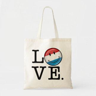 Tote Bag Amour de drapeau de sourire du luxembourgeois