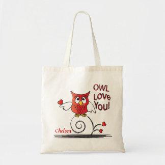 Tote Bag Amour de hibou vous Valentine