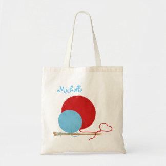 Tote Bag Amour de tricot personnalisé