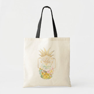 Tote Bag Ananas hawaïen de PixDezines Aloha