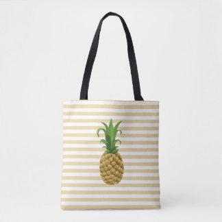 Tote Bag Ananas rayé Fourre-tout