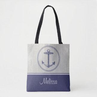 Tote Bag Ancre nautique | personnalisé