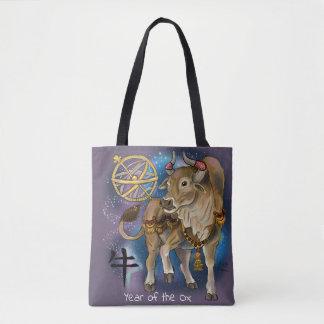 Tote Bag Année chinoise de zodiaque du boeuf