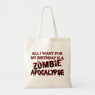 Tote Bag Apocalypse de zombi d'anniversaire