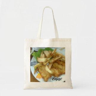 Tote Bag Appréciez les seins rôtis de poulet avec les