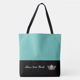 Tote Bag Aqua de Fourre-tout de couronne argentée de Mlle