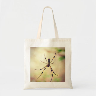 Tote Bag Araignée en soie d'or de tisserand de globe