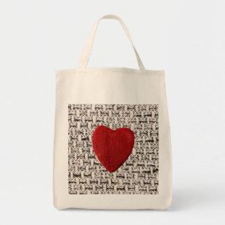 Tote Bag Arrière-plan de matière coeur