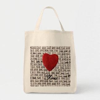 Tote Bag Arrière-plan de matière Love you