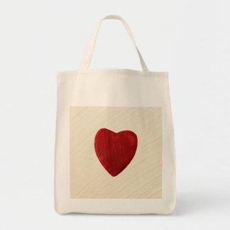 Tote Bag Arrière-plan ébarber coeur