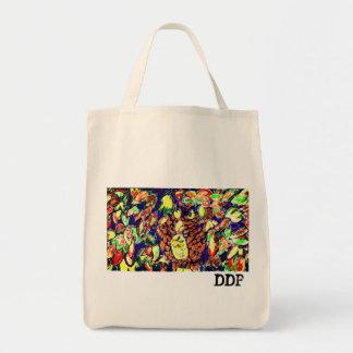 Tote Bag art cinq de chute de hibou