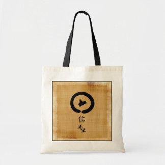 Tote Bag Art de zen de porc de vol - espoir et foi dans le