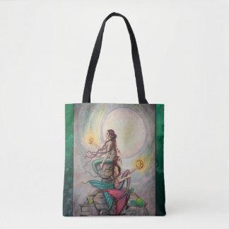 Tote Bag Art d'imaginaire de sirènes de Gémeaux par