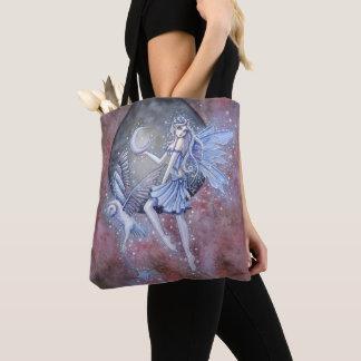 Tote Bag Art magique d'imaginaire de fée et de hibou