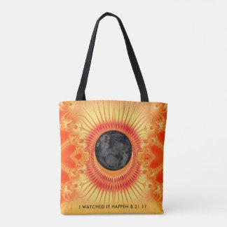 Tote Bag Art total de fractale d'éclipse solaire
