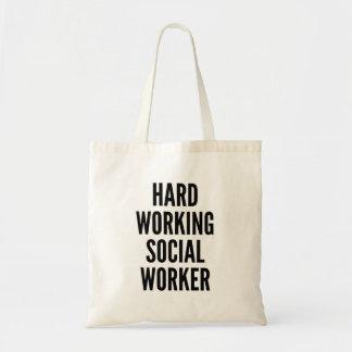 Tote Bag Assistant social travaillant dur