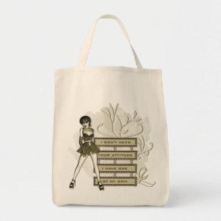Tote Bag Attitude - épicerie organique Fourre-tout