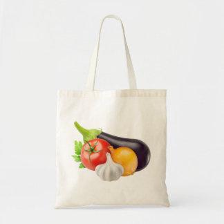 Tote Bag Aubergine et d'autres légumes