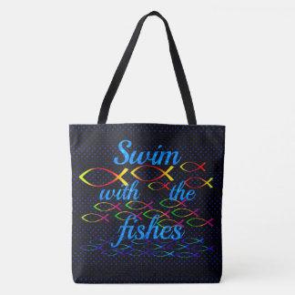 Tote Bag Bain avec les poissons