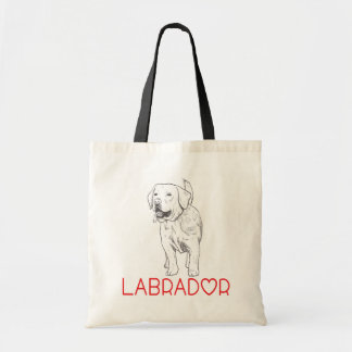 Tote Bag Bande dessinée d'illustration de chiot de labrador