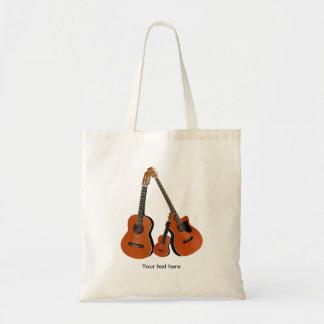 Tote Bag Basse acoustique et ukulélé de guitare folklorique