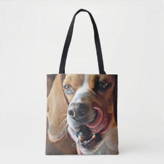Tote Bag Beagle Artsy finissant un casse-croûte