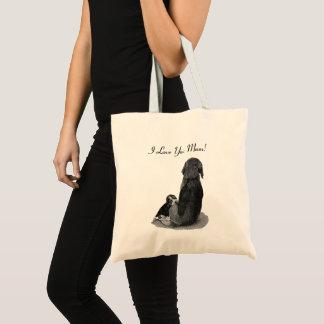 Tote Bag Beagle mignon de chiot avec l'art noir et blanc de