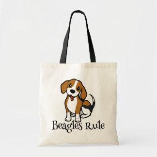 Tote Bag Beagles d'amour de bande dessinée de chiot de