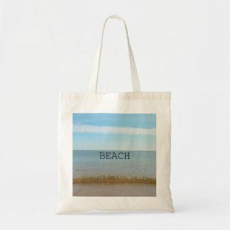 Tote Bag Beau bonheur de plage avec la vague douce