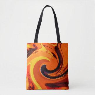Tote Bag Beau remous coloré d'or d'art abstrait