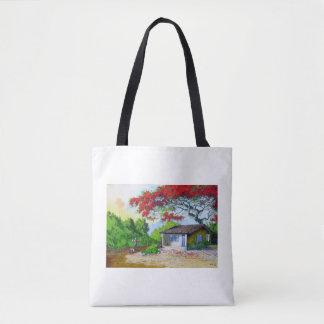 Tote Bag beau village de pays tout plus de - imprimez le