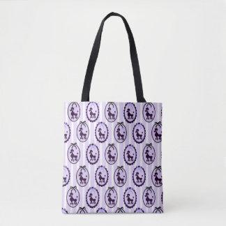 Tote Bag Beaux caniches bleus