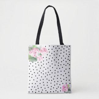 Tote Bag Beaux roses roses Fourre-tout d'aquarelle