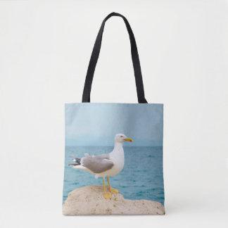 Tote Bag Belle mouette à la mer