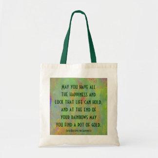 Tote Bag Bénédiction irlandaise pour le bonheur