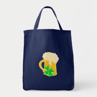 Tote Bag Bière et shamrock irlandais