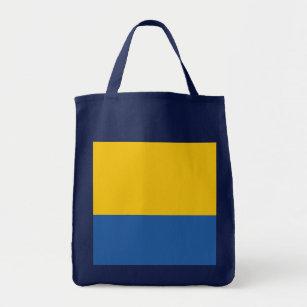 Tote Bag Bleu jaune et royal d'or