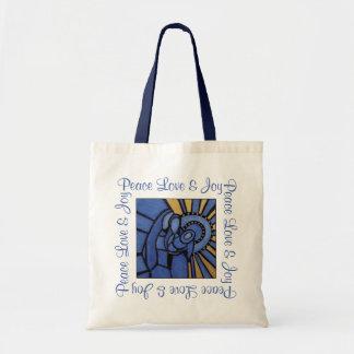 Tote Bag Bleu moderne de Jésus Mary Joseph de nativité de