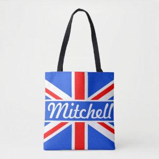 Tote Bag Bleu personnalisé d'Union Jack