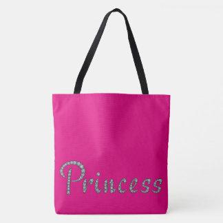 Tote Bag Bling de princesse et couleur faite sur commande