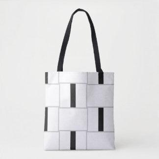 Tote Bag Blocs blancs et gris noirs de couleur