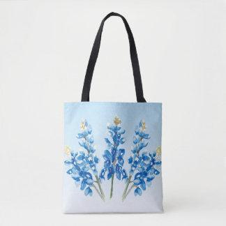Tote Bag Bluebonnets d'aquarelle