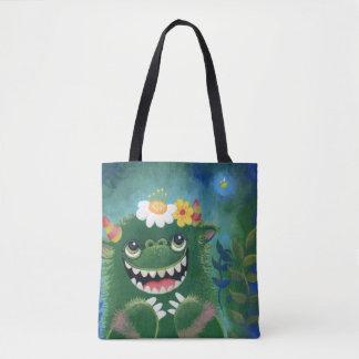 Tote Bag Bonjour insecte, peinture de monstre