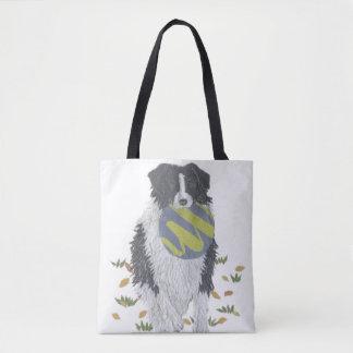 Tote Bag Border collie, chien de berger, art de chien,