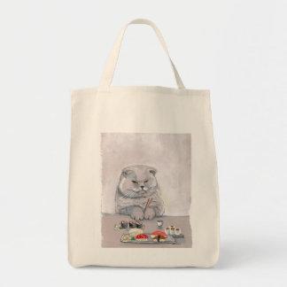 Tote Bag Bougons de chat de sushi